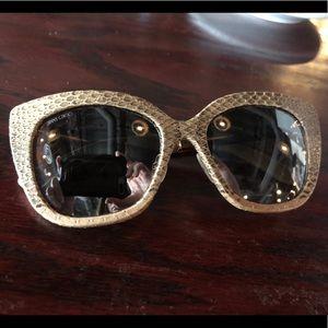 Authentic women's Jimmy Choo snakeskin sunglasses